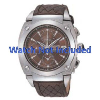 official photos 8105c a5f0f Watch strap Seiko 7T92-0HZ0 / SNDZ85P1 Leather Brown 20mm