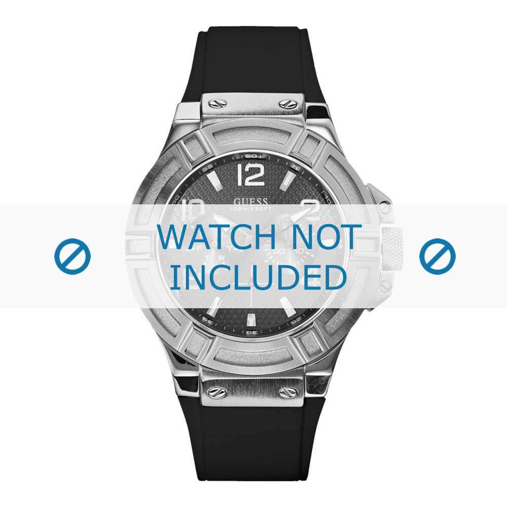 hot products new high new product Guess watch strap W0247G4 / U0247G4 Silicone Black 22mm
